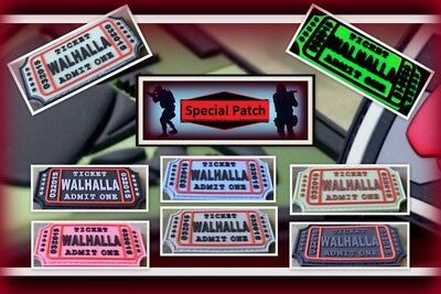 Ready to patch 3D Rubberpatch Walhalla Ticket Walhall m.Klettrückseite