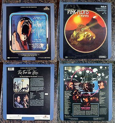 CED VideoDisc Lot: Pink Floyd: The Wall + Live at Pompeii: rare music