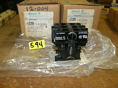 Gould Contactor 2200  Coil 208-240V Ac  **new**new**