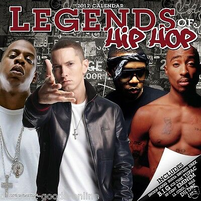Hip Hop Legends 2017 Calendar. Square Calender