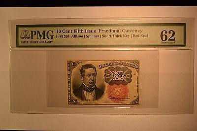 Fr. 1266 10c Fifth Issue PMG Uncirculated 62.