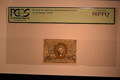 Fr. 1245 10¢ Second Issue PCGS About New 50PPQ.