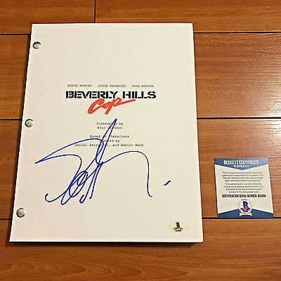 EDDIE MURPHY SIGNED BEVERLY HILLS COP FULL MOVIE SCRIPT w/PROOF BECKETT BAS COA