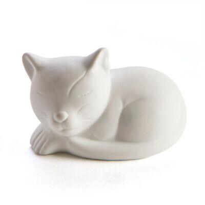 Cute Cat Small Ceramic LED Night Light Childrens Decor - Great Kids Gift!