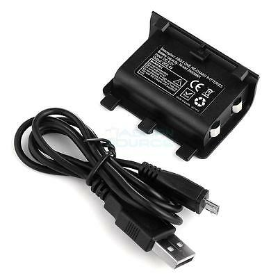 2400Mah Rechargeable Battery Pack Per Joypad Xbox 360 Wireless Controller Nero