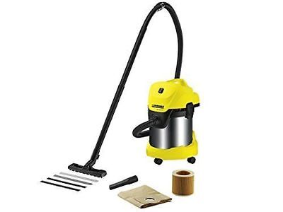 Karcher Wd3, Wet And Dry Vacuum Cleaner, Indoor/outdoor, Multipurpose Stainless