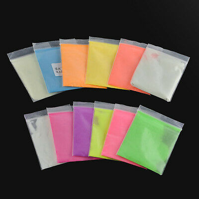 5Colors Glow in Dark luminescent Pigment Powder 10g/bag Resin Coating Art Crafts