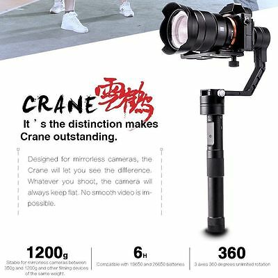 Zhiyun Crane 3-Axis Handheld Stabilizer Gimbal for Mirrorless Canon Nikon DSLR