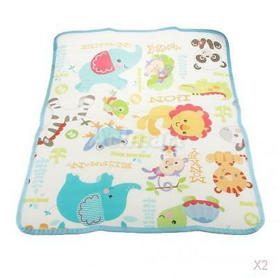2x Baby Changing Mat Cover Diaper Nappy Infant Change Pad Waterproof Animal New