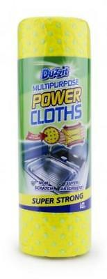 10pk Multi-Purpose Power Cloths Super Strong Tough on Stains Non Scratch