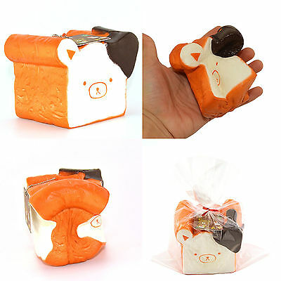 11CM Jumbo Squishy Kapibarasan Toast Slow Rising Bread With Cellphone Strap Hot