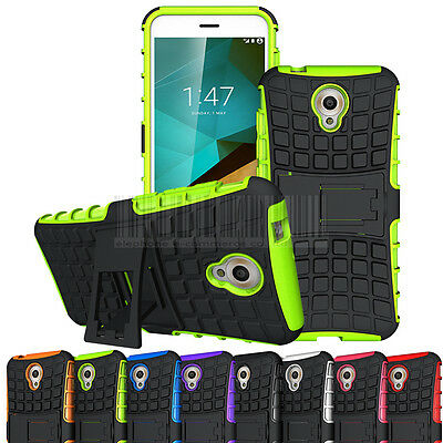 Shockproof Rubber Hybrid Rugged Hard Stand Case Cover For Vodafone Smart Prime 7
