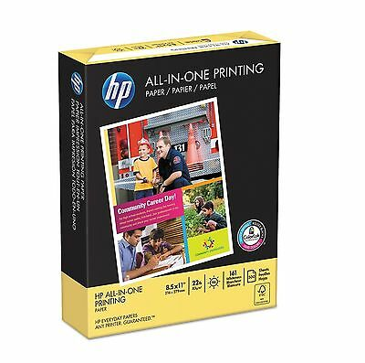 HP All In One Printing Paper 22lb 96 Bright 8 1/2 x 11 White 500 Sheets Ream