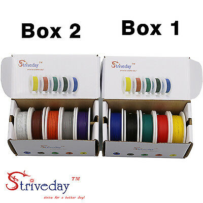 18AWG- 28AWG color Mix box package Electrical Wire Line Airline Copper PCB Wire