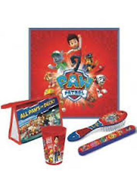 "PAW PATROL - ""All Paws on Deck"" 5pc Set - Towel Cup Toothbrush Cover Brush Bag"