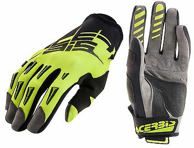 Guanti Moto Enduro Cross Acerbis Mx2 2017 Nero Giallo  Fluo Gloves Tg Xl