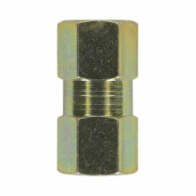 Sealey Brake Tube Connector M10 x 1mm Female to Female Pack of 10 BC10100F