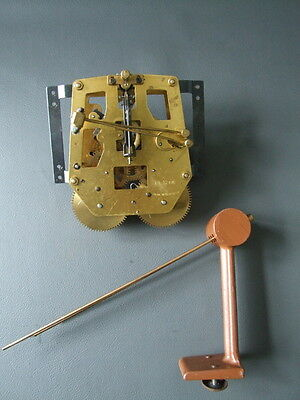 Vintage German chiming mantel clock movement with chimes for repair or spares