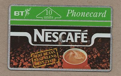 BRITISH TELECOM PHONECARD BT PHONE CARD NESCAFE Coffee Advert 10 Units Rare