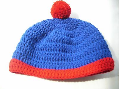 Crochet hat Tossel cap South Park cosplay Stan Marsh reb blue