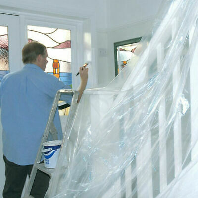 New Polythene Dust Sheet Roll 2M X 50M Dust Cover Decorating Plastic