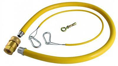 Yellow Catering Gas Hose Commercial Pipe Cooker Oven Inc Quick Release Valve NEW