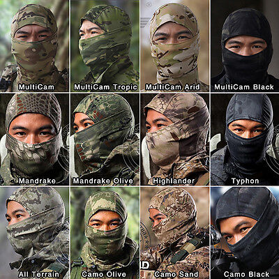 Tactical Camo Balaclava MultiCam Hiking Military Protect  Outdoor Bike Face Mask