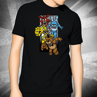 Printed T-Shirt - Five Nights at Freddy's Fan Art - FNAF Foxy Bonnie Chica Game
