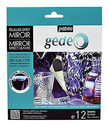 Pebeo Gedeo Gilding Foil Leaves Mirror Finish 12 Colour Sheets in BLUE