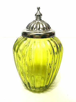 Moroccan Apothecary Jar - CHARTREUSE