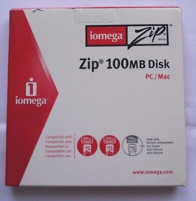 Iomega ZIP-Disk 100 MB - NEW and sealed - Paper case