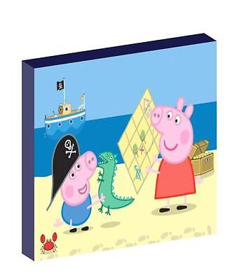 PEPPA AND GEORGE PIG pirates CANVAS PICTURE