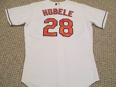 Ryan Hubele 2007 Game used Orioles Jersey Home White size 46