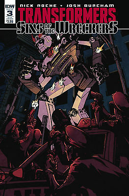 Transformers Sins Of The Wreckers # 3 / Subs Cover / Idw / Jan 2016 / N/m