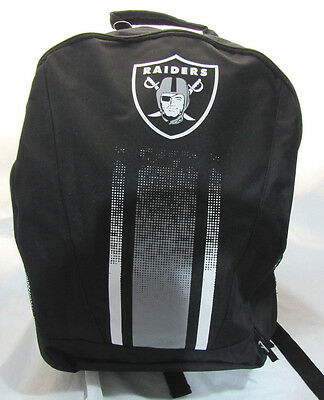 NFL Oakland Raiders 2016 Stripe Primetime Adult Backpack by Forever Collectible