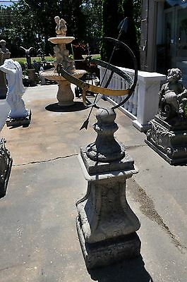 Antique Designed Armillary Sundial on Handsome Pedestal European Architecture