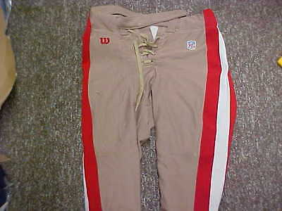Official NFL San Francisco 49ers Football Game Worn/Used Pants by Wilson Size-38