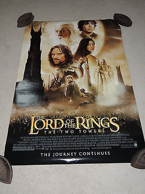 Lord of the Rings LOTR The Two Towers Movie Poster Double Sided