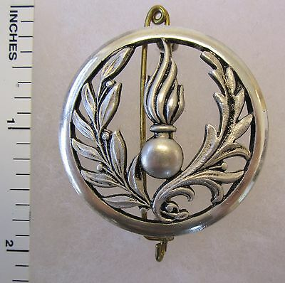 ORIGINAL Vintage FRENCH ARMY INTENDENCE BERET BADGE INSIGNIA