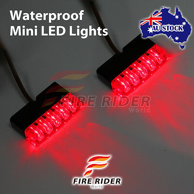 FOR Universal Motorcycle FRW Ultra Bright Red MINI LED light x2 Footpegs Brake