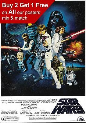 Star Wars Vintage Skywalker Movie Film Poster Print A5 A4 A3 A2 A1 A0