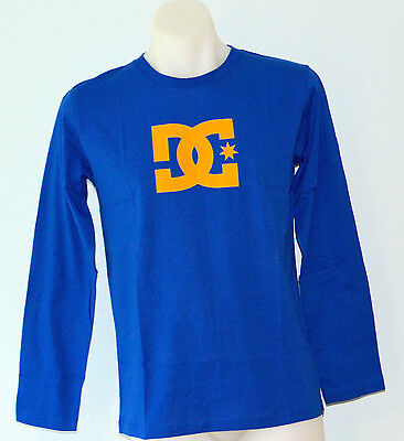 DC Shoes Boys Long Sleeve Printed T Shirt - BLUE- SIZES- 12,14 & 16  YEARS - NEW