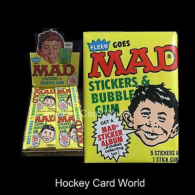 (HCW) 1983 Fleer MAD Magazine Stickers Series 1 Pack with Gum **VERY RARE**