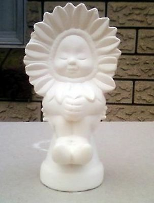 Ceramic Greenware - Flower child- slight damage