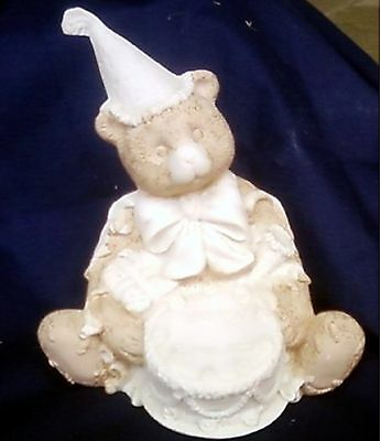 Ceramic Bear at a birthday party unfinished