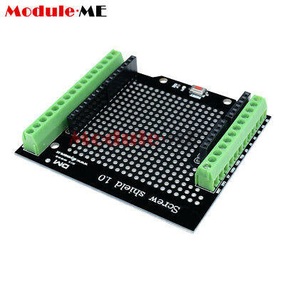Proto Screw Shield For Arduino Open Source Reset Button D13 LED MO