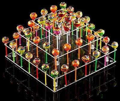 Clear Acrylic Cake Pop Stand (Square (9 Rods)) wedding candy party birthday