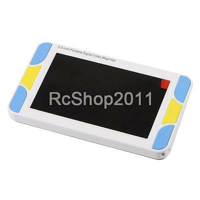"5.0""Portable Video Digital Magnifier Electronic Reading Aid Multiple Color Modes"