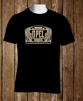 Black T-shirt Opel 1906 Cars Classic Emblem Men's Black Tshirt S to 3XL
