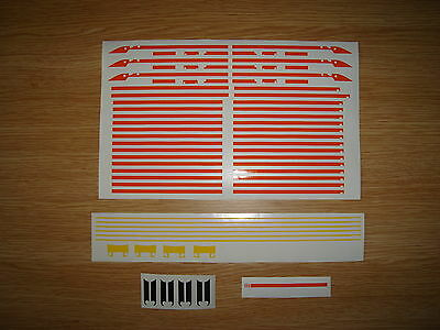 Orange Stripe Livery decals for Hornby Grand Central Railways HST & MK3
